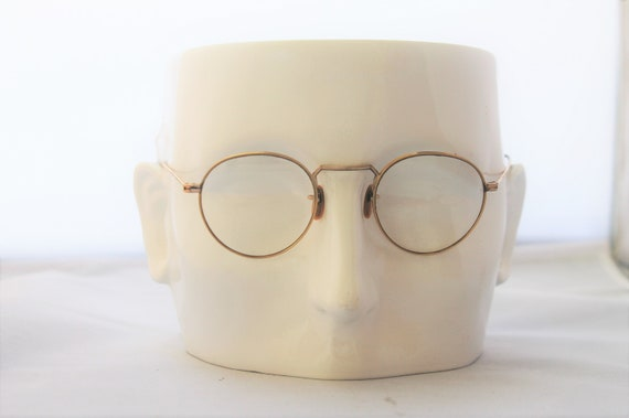 1920s panto style glasses, eyeglasses, gold filled rims & temples,  The Main Street Special