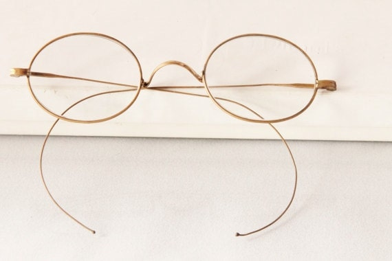 Antique Edwardian spectacles,oval, glasses, The Telluride