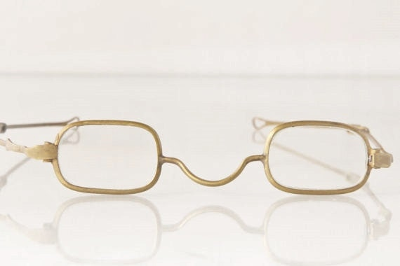 Great antique early 1800's spectacles with slide temples, Toy Maker