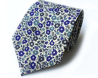 Liberty fairford blue floral tie