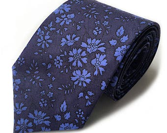 Liberty Double Capel Navy floral tie