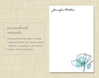 Personalized Notepad - Poppy