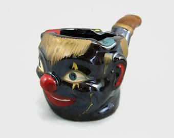 Pipe Shape Tilson Japan Clown Ashtray