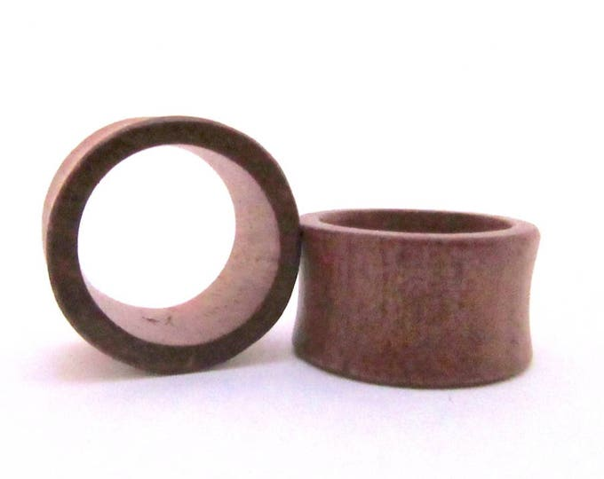 """Brown Wood Tunnels. 7/8"""" / 22mm"""
