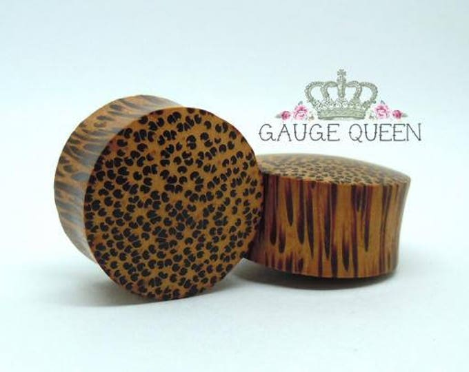 "Coconut Wood Plugs / Gauges. 9/16"" / 14mm, 5/8"" / 16mm, 7/8"" / 22mm"