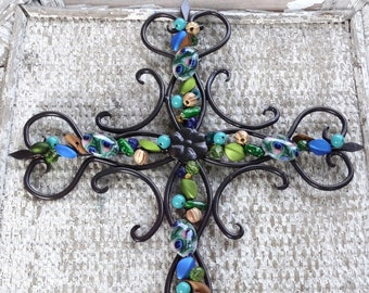 Wrought Iron Cross Etsy