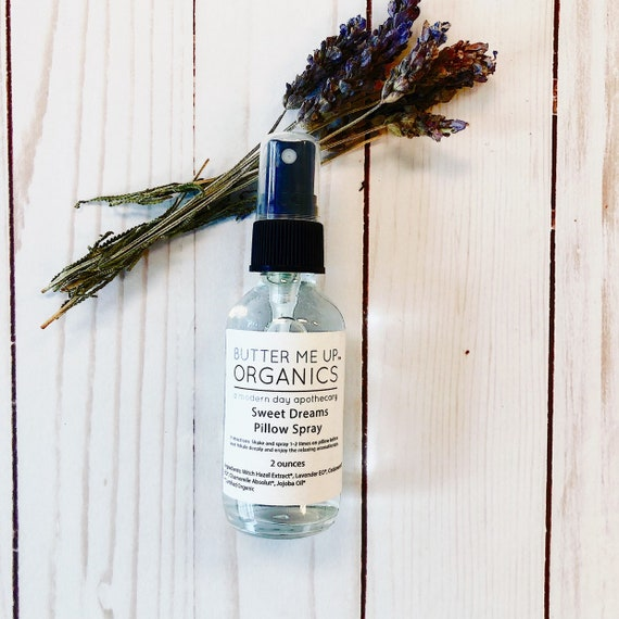 Organic Pillow Mist / Aromatherapy  / Relaxing Essential Oils / Gentle Sleep / Butter Me Up Organics