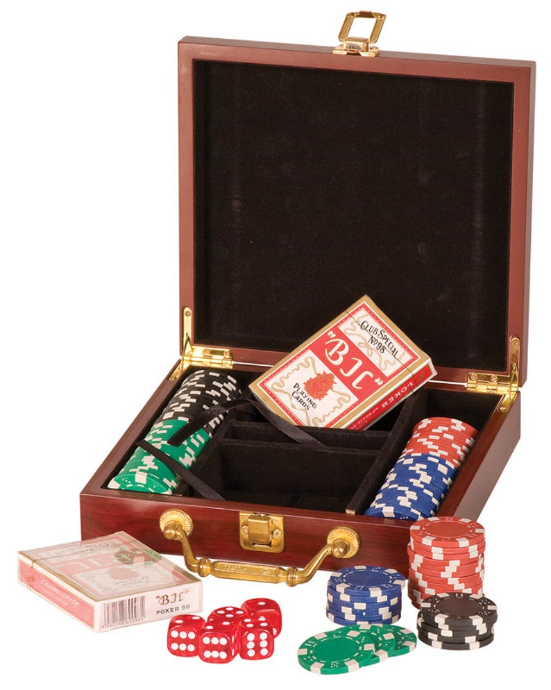 Custom Personalized Engraved 100 Chip Poker Set   BRAND NEW image 0