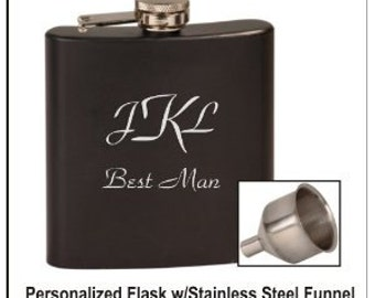 Personalized Flask -You Choose Color and Design ... W/free Funnel
