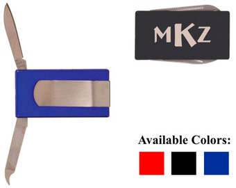 Personalized 2 Tool Money Clip - FREE Engraving - Your Choice of Color