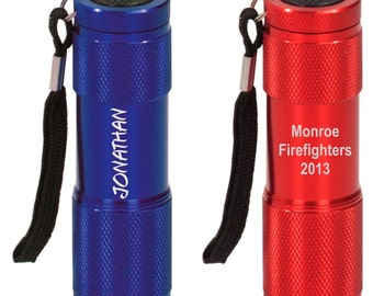 """Engraved Personalized 3.5"""" LED Flashlight - Your Choice of Color and Design"""