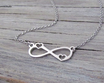 ST11 Name Necklace Infinity Style Personalized /& Custom Made Jewelry Gift for Her