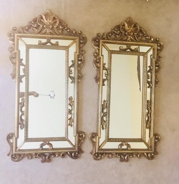 24220bfb100 Vintage Gold Framed Mirror Large Rectangular Mirror Carved Gold Gilt Frame  Mirror 55 X 29 Inches