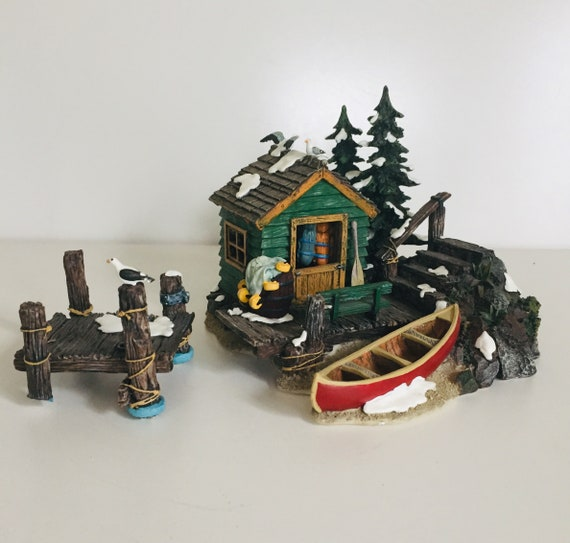 Christmas Village Accessories.Department 56 The Dockhouse Village Accessories Christmas Village Dockyard Display Dockhouse Figurines Fairy Garden Model Making Boathouse