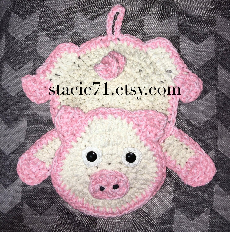 Pig Pot Holder Crochet Pattern Etsy