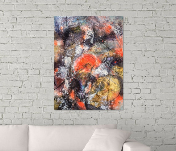 Sunset. Abstract painting...