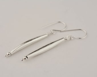 Sterling Silver Dangly Lightweight Hollow Form Earrings Handmade Ear Wires Artistic Lightweight Unique Gift