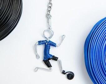 Soccer Boy Handmade Keychain