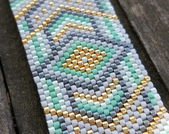 Minty Goodness Odd-Count Peyote Stitch Pattern