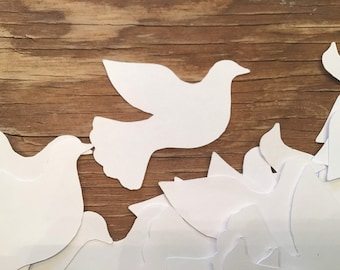 Die Cut Wool Felt Dove Birds with Wings 2 Wings-You Choose Color and Quantity #0096 2 Bird Bodies