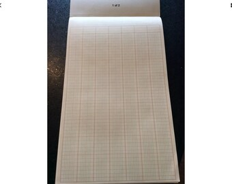Vintage legal size ledger paper