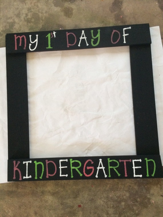My First Day Of Kindergarten School Frame Prop Preschool Etsy