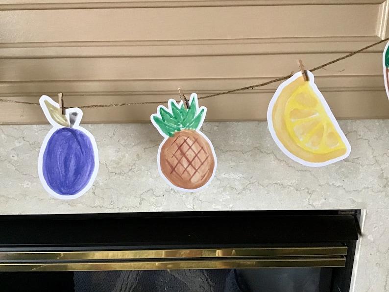 Super cute fruit garland banner