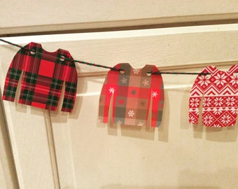 Ugly Christmas sweater paper Garland