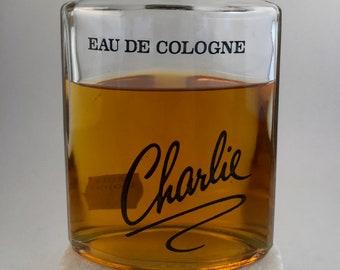 Vintage Revlon Charlie Eau De Cologne.  Huge 235 ml Splash Bottle.