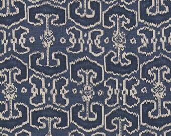 Lacefield Designs Bengali Indigo Ikat Custom Drapery Panels Curtains - Set of Two!