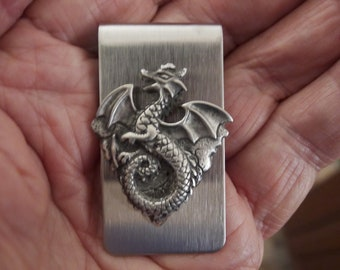 ef85354ff8c1 Flying Dragon Money Clip (made from fine pewter and stainless steel)