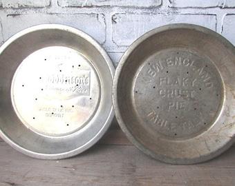Tin Pie Plates Vintage Pan New England Table Talk Pie Company Rustic Primitive Kitchen Mrs Robbinson