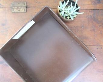 Metal Office Letter Tray Vintage Office Supply Desk Organizer