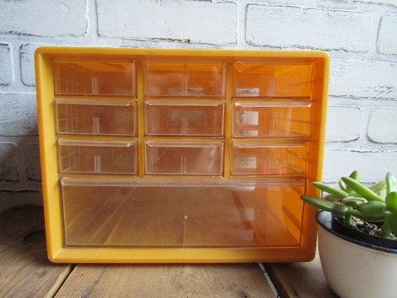Storage Drawers Hardware Vintage Drawer Organizer Yellow   Etsy