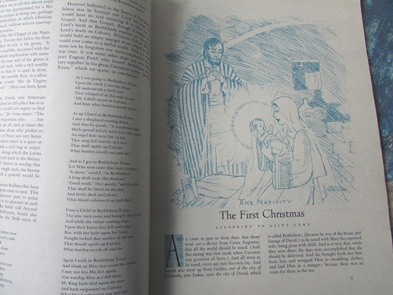 Vintage Christmas Magazine 1944 Annual of Christmas Literature Antique Holiday Stories Augsburg Publishing