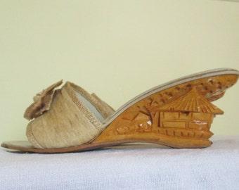 f0f9df6b478b4 50s 1950s wedge heel | Etsy
