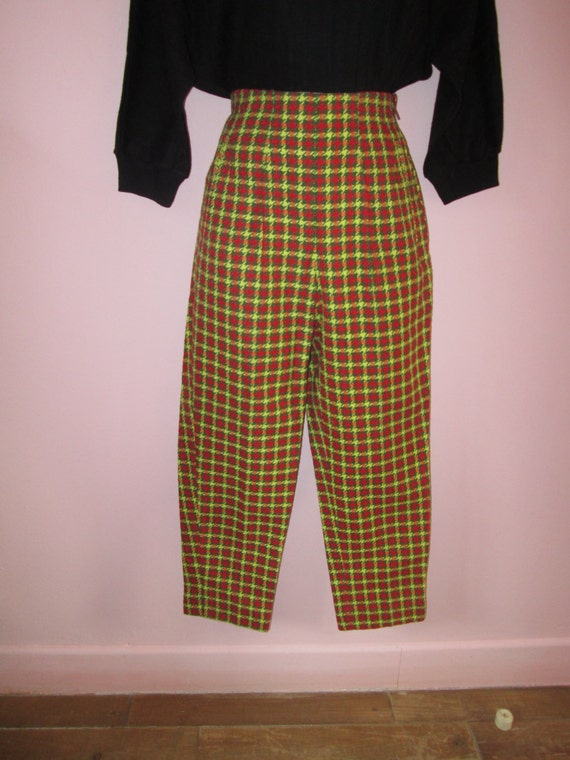 Amazing Vintage 1950s 50s Red/Yellow/Green Houndst