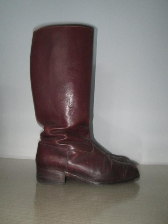 Original Vintage 1930s 30s 1940s 40s Brown Leather