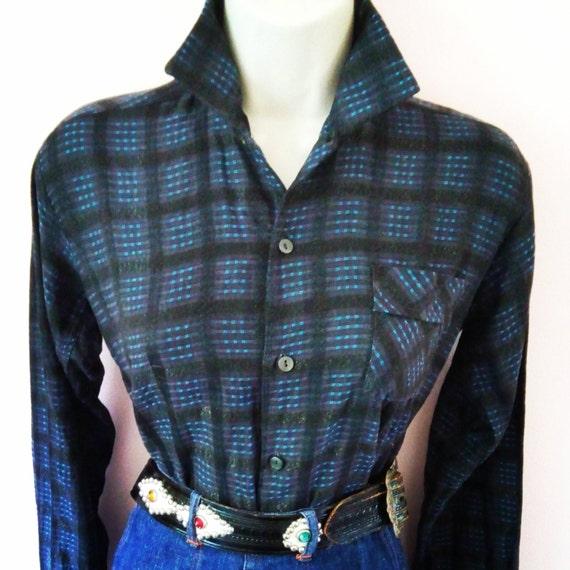 Juvenile Delinquent Vintage 1950s 50s Grey & Blue