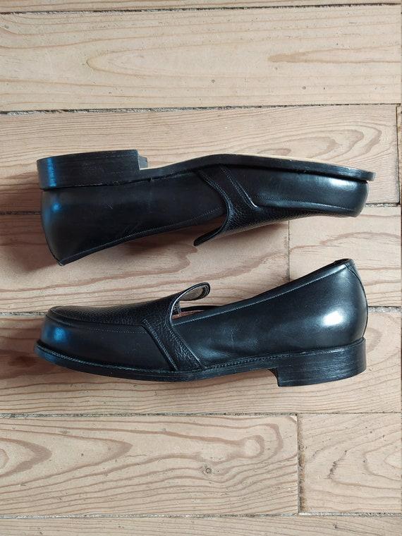 Elvis Girl Vintage 1950s 50s Ink Black Leather Loa