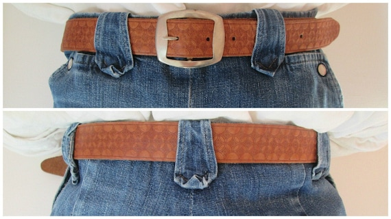Rockin' Vintage 1950s 50s Brown Tooled Belt w/ Sil