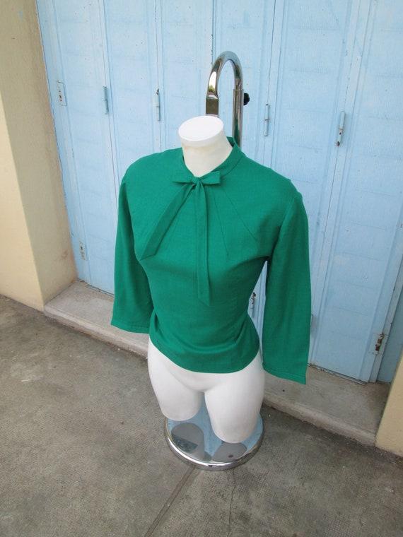 Ultimate Bad Girl Vintage 1950s 50s Green Flannel