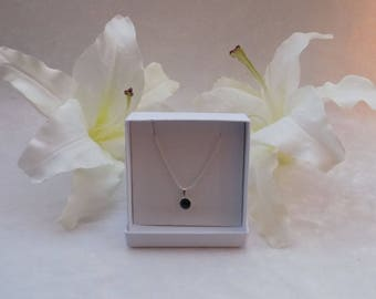 Sterling Silver and Swarovski Necklace in Emerald