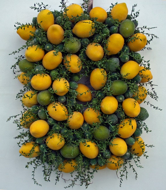 Fruit Wreath, Rectangular Citrus Fruit Wreath