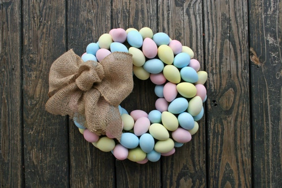 Easter Wreath, Easter Egg Wreath, Egg Wreath, Spring Wreath