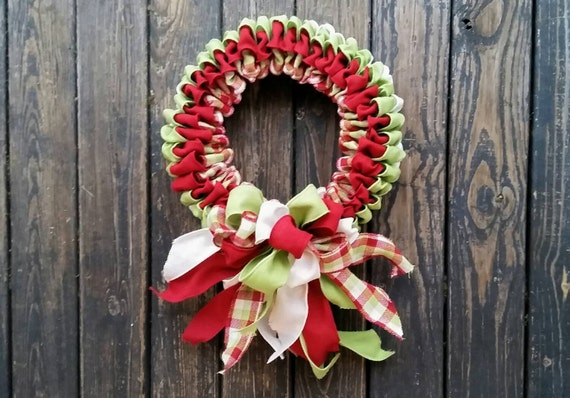 Christmas Wreath, Holiday Wreath, Burlap Wreath, Christmas Burlap Wreath, Ribbon Wreath