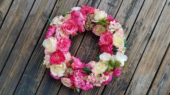 Spring Wreath, Summer Wreath, Easter Wreath, Mother's Day Wreath, Wedding Wreath, Ready to Ship