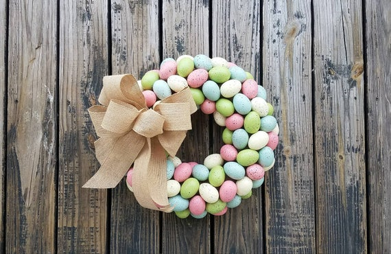 Easter Wreath, Easter Egg Wreath, Egg Wreath, Speckled Egg Wreath