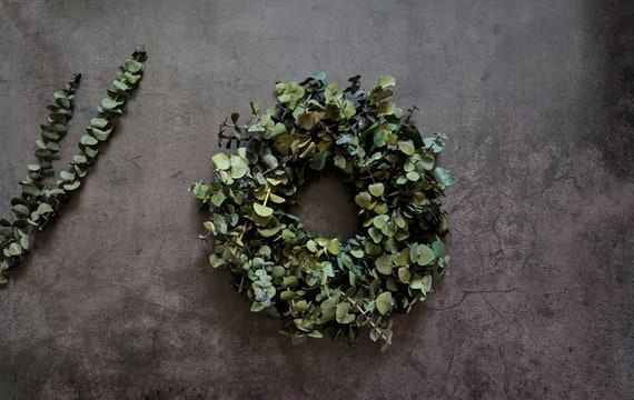 Wreath -  Dried Flower Wreath  -  Eucalyptus Wreath - Preserved Eucalyptus Wreath