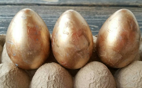Decorative Easter Eggs, Easter Eggs, Metallic Eggs, Metal Leaf Eggs, Marbled Eggs